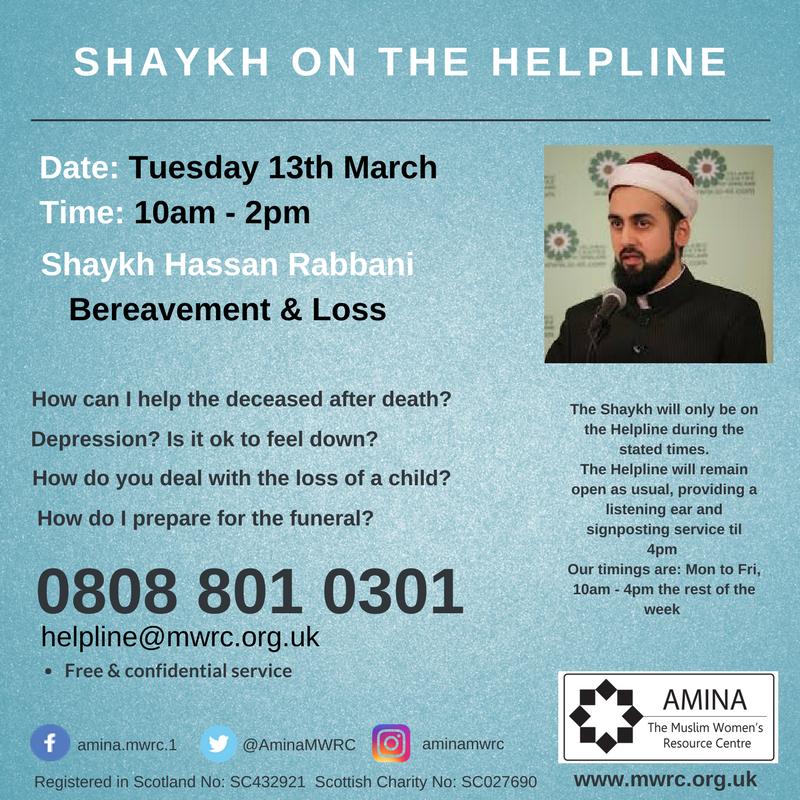 Shaykh on the Helpline